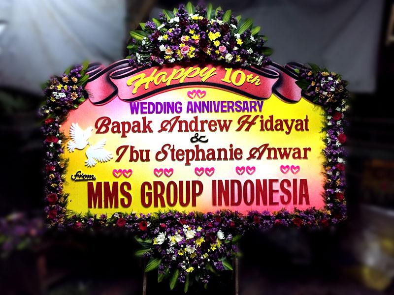 bunga papan bali anniversary