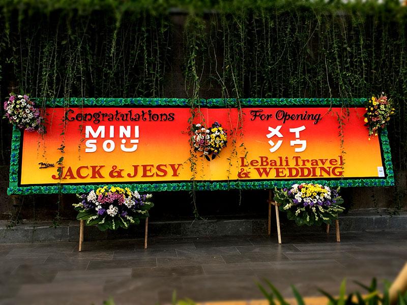 bunga papan bali congratulations