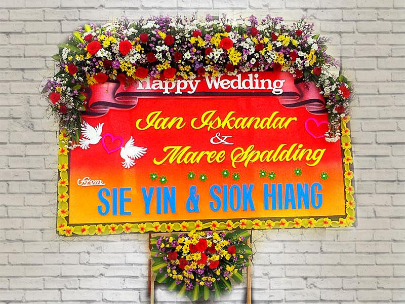 bunga papan bali pernikahan