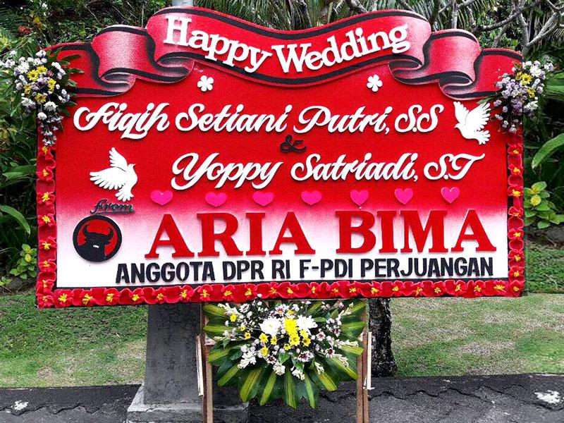 bunga papan bali wedding 10