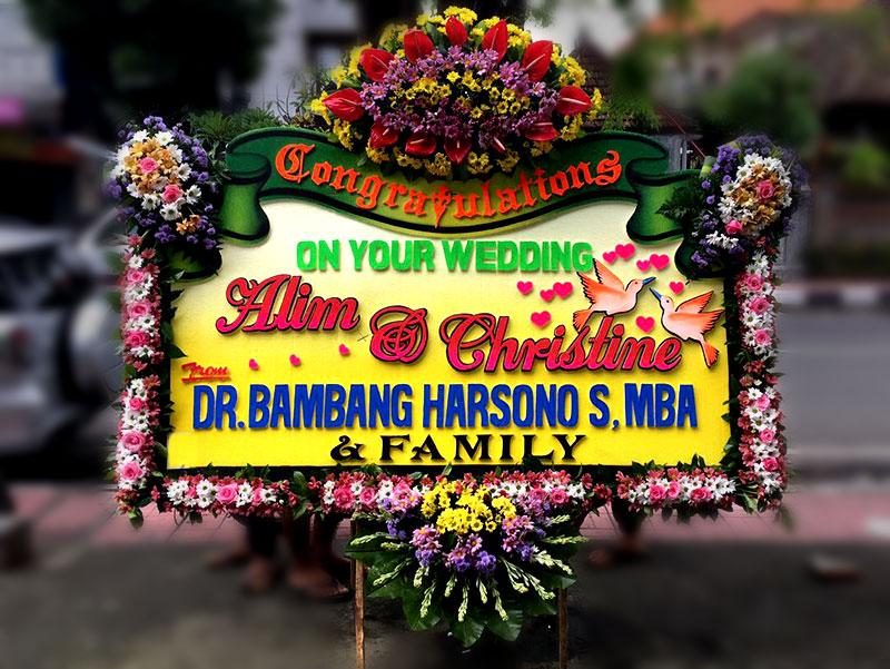 bunga papan bali wedding 11