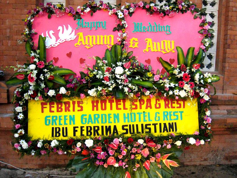 bunga papan bali wedding 13