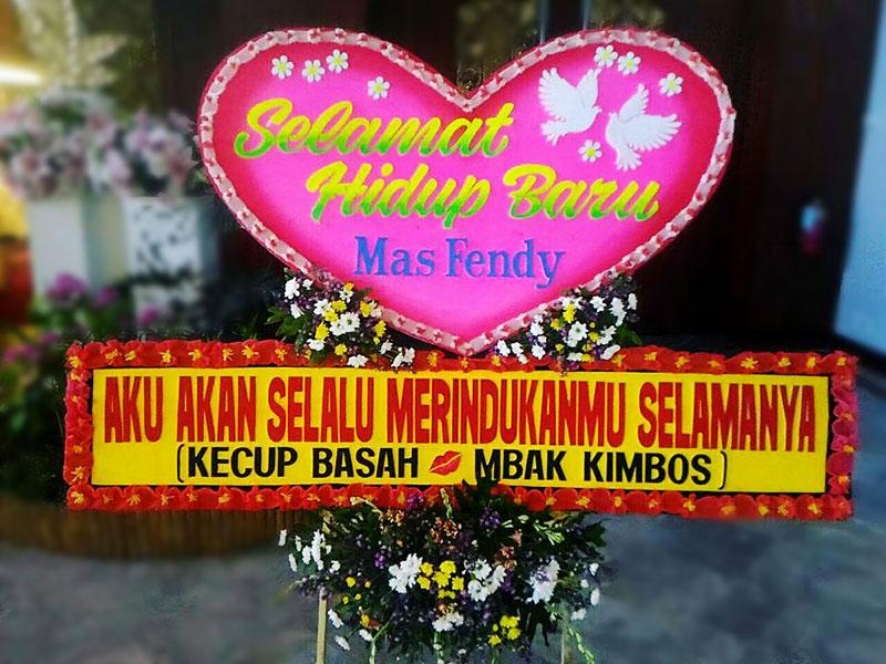 bunga papan bali wedding 6