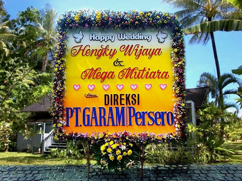 bunga papan bali wedding 7