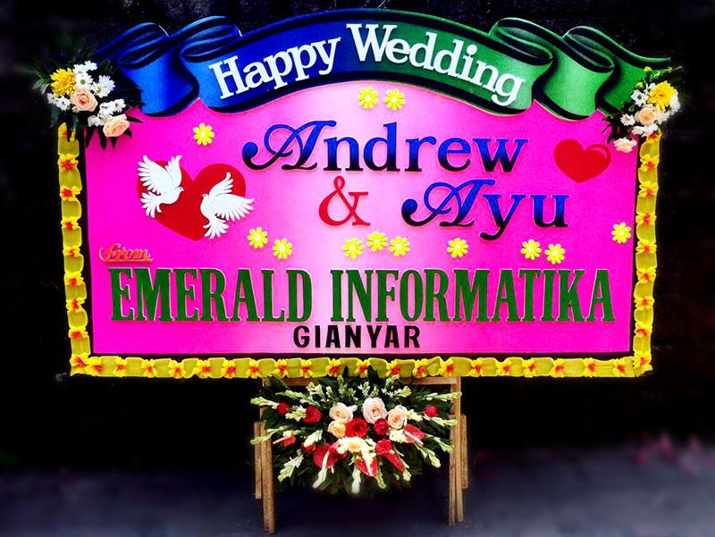 bunga papan bali wedding