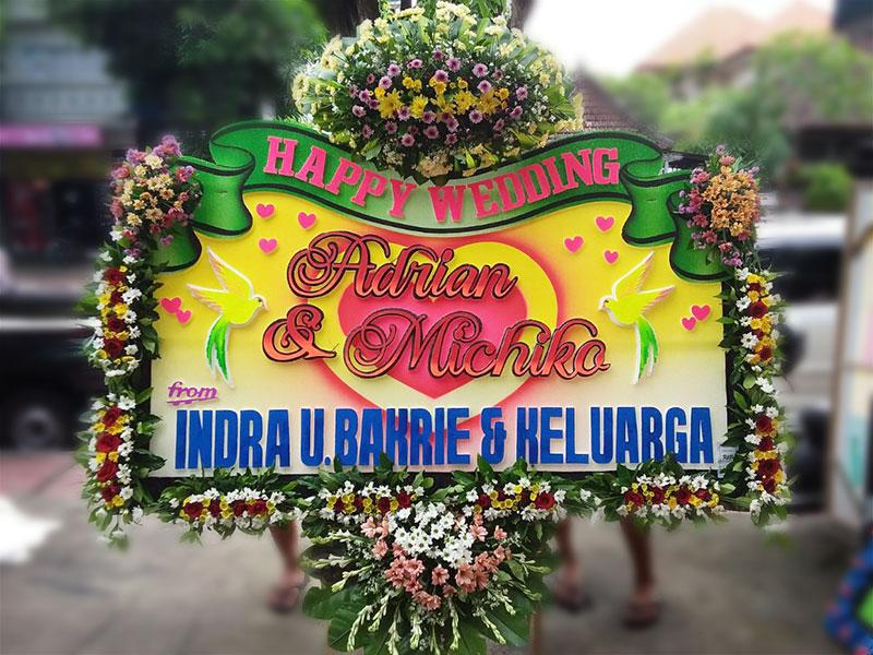 bunga papan exclusive wedding bali
