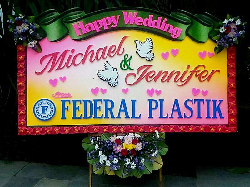 bunga papan pernikahan di bali murah