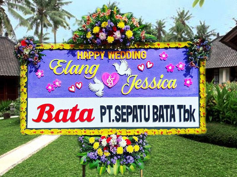 bunga papan wedding 1
