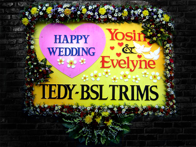 bunga papan wedding bali 14