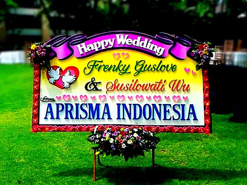 bunga papan wedding bali 8