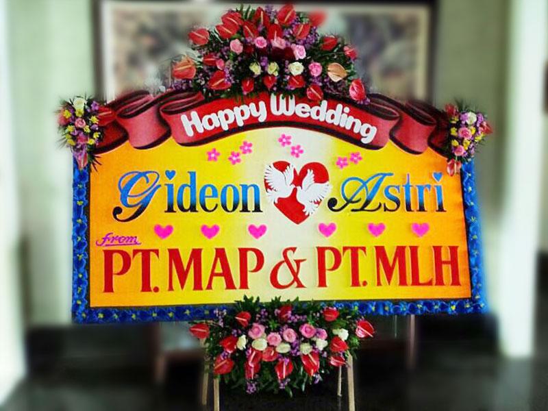 bunga papan wedding di bali 18